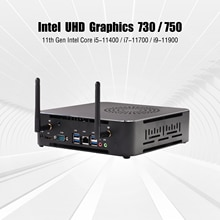 Leistungsstarke desktop computer Intel Core i9 11900 Core i7-11700 Windows 11 Mini PC Core i5-11400 max 64GB 2 * SATA 3,0 M.2NVME SSD