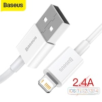 Baseus USB Kabel Für iPhone 12 11 Pro Max Xs X 8 Plus 2,4 EINE Schnelle Ladekabel Für iPhone 5s 6s 7 SE Ladegerät Kabel USB Daten Linie