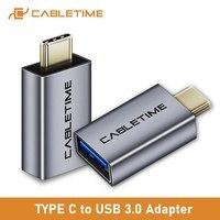 CABLETIME USB C zu USB 3,0 OTG Adapter Sync U-disk Konverter für Huawei Mate30 pro P40 USB-C geräte adapter C367