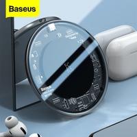 Baseus 15ワットチーワイヤレス充電器12ミニ11プロxs最大誘導高速airpods用のパッドの充電xiaomiサムスン