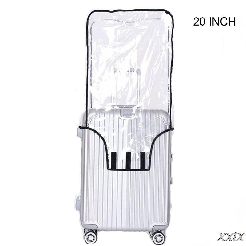 Klar PVC Koffer Abdeckung Roll Gepäck Abdeckung Protector für Tragen auf Gepäck 20 zoll, 22 zoll, 24 zoll, 26 zoll, 28 zoll, 30 zoll