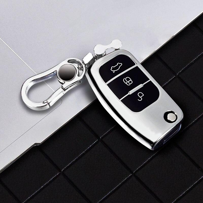 Funda de TPU suave para mando a distancia de coche, 1x3 botones, para Ford Fiesta, Focus 2, Ecosport, Kuga, Escape, Falcon, b-max, c-max, Eco, Sport, Galaxy