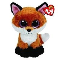 15cm Ty Plush Animal Doll Slick Fox Soft Stuffed Toys Cute Ty Beanie Big Eye Doll Children Birthday Gift