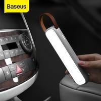 Baseus שמש רכב חירום אור נטענת LED אוטומטי פנים קריאת אור נייד לילה אור מגנטי רכב אות מנורה