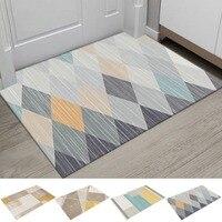 Home New Geometric Printed Doormat Living Room Anti-slip Carpet Absorbent Shower Bath Mat Bedroom Kitchen Rug Welcome Door Mats