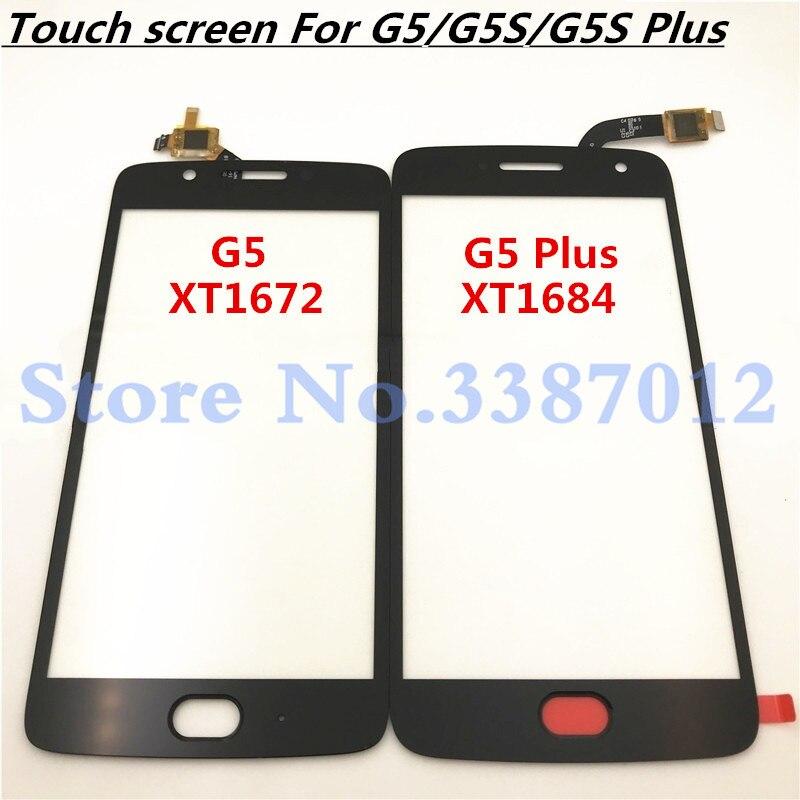 Sensor de pantalla táctil para Motorola Moto G5 G5 Plus G5S + G5s Plus G5s, Panel táctil de cristal, piezas de reparación de repuesto