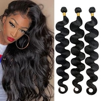Maxine pacotes ondulados de cabelo humano, 30 unidades 2 3 4 unidades, peruca de cabelo remy
