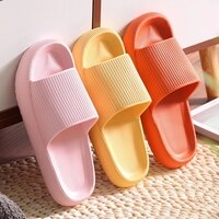 Thick Platform Bathroom Home Slippers Women Fashion Soft Sole EVA Indoor Slides Woman Sandals 2021 Summer Non-slip Flip Flops