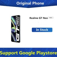 Neue Realme GT Neo 5G Android Telefon Dual Sim Karte Dimensity 1200 4500mAh 50W Super Ladegerät 6.43