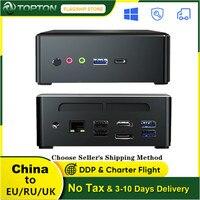 TOPTON Mini PC AMD Ryzen R5 3550H R7 2700U Vega 10 Grafik 2 * DDR4 M.2 NVMe Gaming Computer windows 10 4K HTPC HDMI 2,0 DP AC WiFi