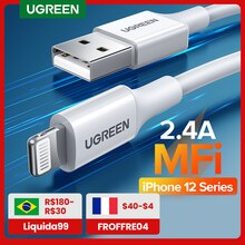 Ugreen MFi USB Kabel für iPhone 13 Mini 2,4 EINE Schnelle Lade USB Ladegerät Datenkabel für iPhone 12 Pro max 11 XR 8 USB Ladung Schnur