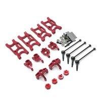 Lc racing 1/14 wltoys 144001 124017-16-18-19 rc carro, atualizar peças de reposição, braço oscilante, copo de direção, cvd etc. conjunto de 8 peças