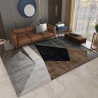 Alibaba Hot Sale Nordic Geometric Printed Large Rugs Carpets for Living Room Decoration Carpet Sofa Anti-slip Antifouling Rug