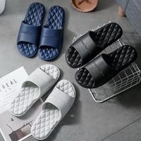 Slippers For Home Summer Woman Men Indoor Soft Slipper Orthopedic Shoes Non-slip Bottom Bathroom Couples Slippers Summer Loafers