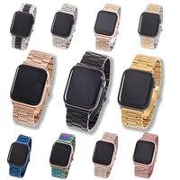 Band For Apple Watch6 5 4 3 2 1 42mm 38mm 40MM 44MM 금속 스테인레스 스틸 시계 밴드 팔찌 스트랩 iWatch 시리즈 액세서리