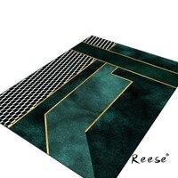 Reese Area Rug Of Series Deep Green Quality Print Carpets For Living Room Bedroom Bathroom Hotel Office Diningroom Anti Slip