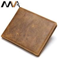 MVA קטן גבר ארנק עור עם כיס מטבע ארנקים ארנקי יוקרה אמיתי עור ארנק לגברים Rfid geldbeutel herren 7444