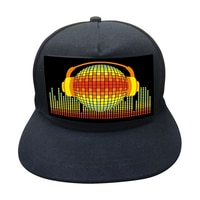 LED 모자 콜드 라이트 필름 모자 EL 야광 모자, 남성과 여성 무대 개성 나이트 클럽 바 힙합 모자