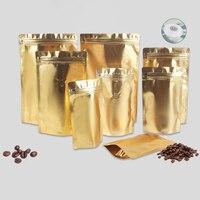 50PCS סיטונאי לקום Doypack פאוץ מזון חבילה תה אגוז אבקת 100g 250g 500g 1kg קפה תיק עם Vavle