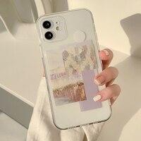 IPhone用プリントイヤケース,モデル11 pro max mini 12 xs max x r 7 8 plus,かわいい,capaシェル