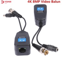 10 Pairs 8MP CCTV Video Power Balun Passive Transceiver BNC Zu RJ45 Stecker Für AHD CVI TVI CVBS Kamera