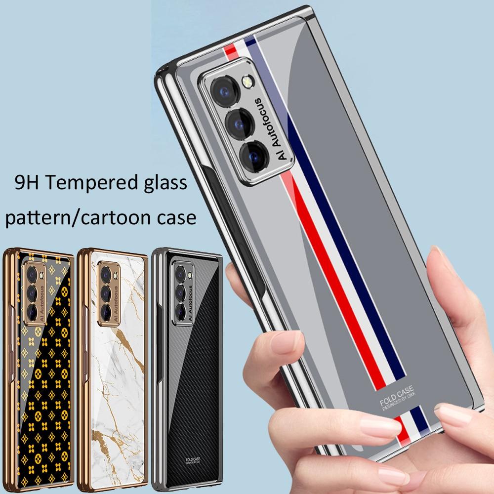 GKK-funda plegable con diseño de dibujos animados para Samsung Galaxy Z, funda transparente mate, plegable, 2, 5G