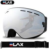 ELAX MARKE NEUE Doppel Schichten Anti-Fog Ski Brille Schnee Snowboard Brille Schneemobil Brillen Outdoor Sport Ski Googles
