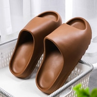 WEH Summer Slippers Men Women Indoor Eva 2021 Cool Soft Bottom Sandals Trend Slides Light Beach Shoes Slippers Home big size 46