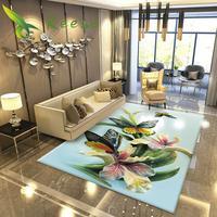 Alibaba Hot Sale Modern Art Soft Color Floral Japanese Carpet For Livingroom Bedroom Parlor Non-slip Antifouling Factory Supply