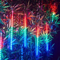 30cm 50cm 8 튜브 방수 유성우 레인 LED 스트링 라이트, 홈 홀리데이 장식용 야외 크리스마스 트리