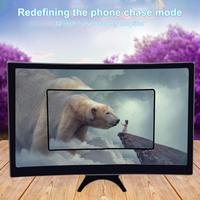 3D HD 앰프 12 인치 대형 스크린 곡선 스크린, 스마트폰 스탠드용 휴대폰 화면 돋보기, 핸드폰 액세서리 확대