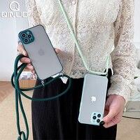 IPhone用ショルダーストラップ付きクリアケース,モデル13 11 pro max 12 mini xs x xr 8 7 plus SE 2020 13