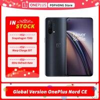 Globale Version OnePlus Nord CE 5G Handy 6.43 ''90Hz Flüssigkeit AMOLED 8GB 128GB Snapdragon 750G 5G Octa Core 64MP Triple Kamera
