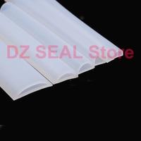 25 x 10mm D type high temperature resistant semicircular hollow silicone door seal mechanical bathroom water retaining strip