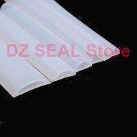 8 x 7mm D type high temperature resistant semicircular hollow silicone door seal mechanical bathroom water retaining strip