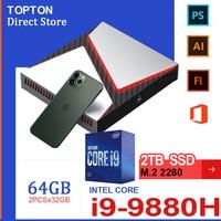 Intel Gaming Mini PC Core i9-9980HK i9 9980H i7 9750H Nvidia GTX 1650 4GB Spiel Desktop 2DDR4 64GB Windows10 4K DP HDMI AC WiFi