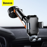 Baseus הכבידה מכונית טלפון בעל יניקה כוס מתכוונן אוניברסלי מחזיק לעמוד במכונית GPS הר עבור iPhone 12 פרו מקסימום xiaomi POCO