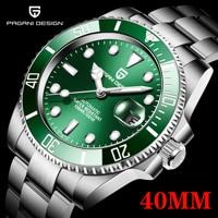 2021 PAGANI Design New 40mm Men Luxury Automatic Mechanical Wrist Watch Men Stainless Steel Waterproof Watch Relogio Masculino