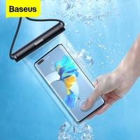 Baseus 방수 전화 케이스 아이폰 13 12 프로 최대 삼성 Xiaomi Poco 수영 방수 전화 가방 범용 보호 커버