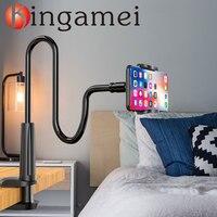 אוניברסלי טלפון בעל מיטת קליפ עצלן גמיש Gooseneck קלאמפ ארוך זרועות הר עבור iPhone Xiaomi ספה שולחן נייד טלפון Stand