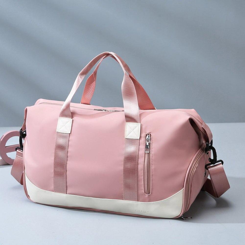 Neue frauen Sport tasche Reisetaschen Wasserdichte Wochenende tasche Koffer Handtaschen Große Kapazität Gepäck Yoga Schulter Taschen Für Gym