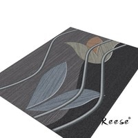Print Elegant Abstract Area Rugs Geometric Plain Decoration Carpets Living Room Hotel Customizable Washable Anti Slip Lint Free