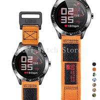 20mm 22mm 나일론 스포츠 시계 밴드 삼성 갤럭시 시계 4 42mm 46mm 시계 스트랩 팔찌 grea S3 화웨이 GT2 활성 루프
