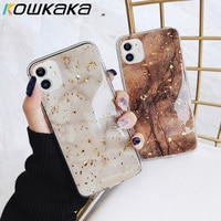 Kowkaka-大理石のパターンの電話ケース,iPhone 11 pro max x xr xs 6 6s 7 8 plus 12用の高級電話ケース,ビンテージパターン