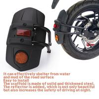 Guarda-lamas plástico para motocicleta, proteção universal contra lama e respingo para honda com refletor