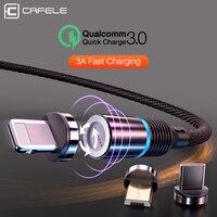 CAFELE 3A Magnetische USB Kabel für iPhone Xs Max Xr X 8 7 6 6s Plus 5 5s SE iPad Magnet USB Typ C USB Micro Kabel Led Licht