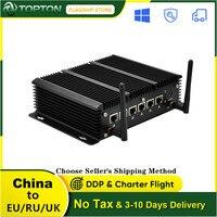 Topton Fanless Mini PC Intel Core i7 10510U 8265U 6 LAN i211AT Gigabit Ethernet AES-NI 4 * USB 3,0 Firewall router pfSense Computer