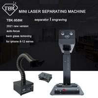 2019 TBK-958A 업데이트 TBK-958M 미니 레이저 분리 조각 기계 아이폰 8X11 12 후면 커버 유리 제거