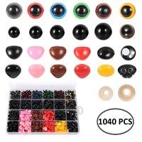 6-12mm 검은 눈 타원형 코 인형 공예 플라스틱 안전 눈, 테디 베어 플러시 장난감, DIY Amigurumi 인형 액세서리, 1 팩