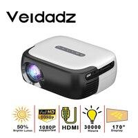 VEIDADZ RD860 מיני LED נייד מקרן סרטי 640*360 פיקסלים עם HDMI/USB/AV/אודיו ממשקים עבור קולנוע ביתי בידור